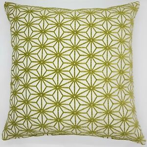 Handmade-Green-and-Off-White-Embossed-Textured-Cushion-Cover-50x50