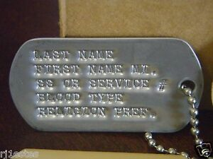 military ID tags dog tags military dog tag Vietnam veteran stainless ... e6fdc45b77d4