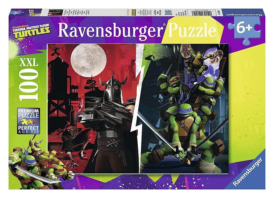 Ravensburger Puzzle Puzzles Kinderpuzzles Tortues Ninja Shrougeder 100 Partie XXL