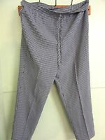 Donnkenny 16 Navy/white Check Pants 40 Waist 28 Inseam Comfy & W. Tag $32