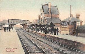 POSTCARD   SOMERSET  CREWKERNE  RAILWAY  STATION    Circa  1905     RP