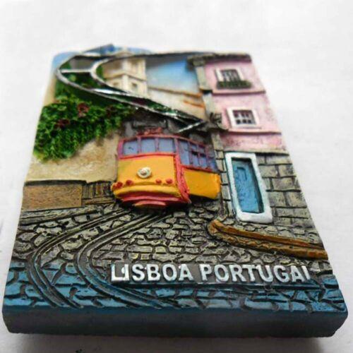 3D Resin Portugal Lisbon Fridge Magnet Decor City Tourist Travel Souvenir