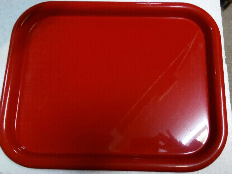 Vassoio Alessi rettangolare acciaio Couleurato 5006.52 rouge o jaune 52cm