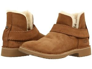 Women-039-s-Shoes-UGG-MCKAY-Twinface-Sheepskin-Ankle-Booties-1012358-CHESTNUT