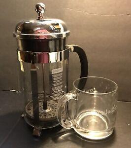 Details about SET Starbucks Coffee Bodum French Press Coffee Maker & Glass  Mug Cup