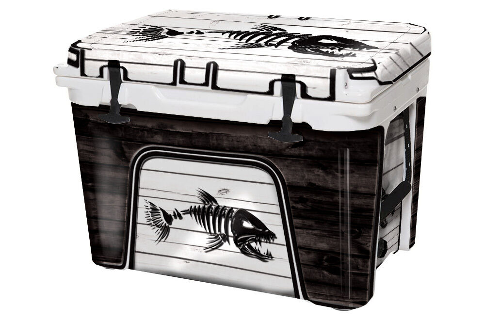 USATuff Cooler Decal Wrap fits YETI Tundra 35qt FULL  Bonefish White WD  online shopping sports