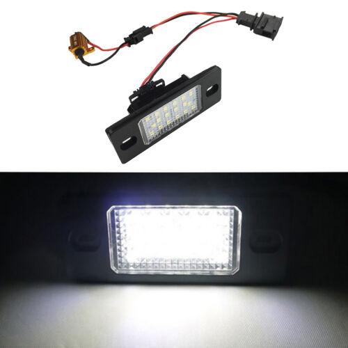 1 Pair LED License Number Plate Light Lamp White For Porsche Cayenne V-W Touareg