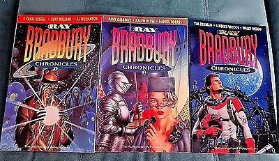 The Ray Bradbury Chronicles Volumes 1,2 & 3 Excellent 1992 1st printings