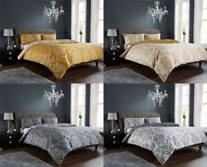New Royal Damask Duvet Quilt Cover Set, Bed Linen Double King Size ...