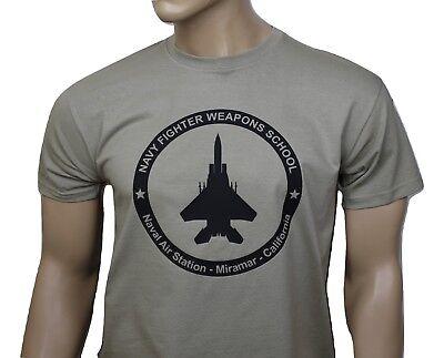 Fighter Weapons School Men/'s T-Shirt S-XXL Sizes Officially Licensed Top Gun