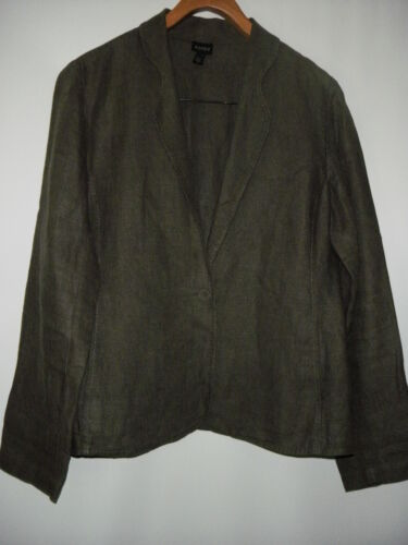 Women's EILEEN FISHER Gray 100% Irish Linen Stitch