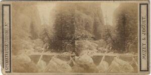 Dauphine Cascade Foto Muzet & Joguet Stereo Vintage Albumina Ca 1865