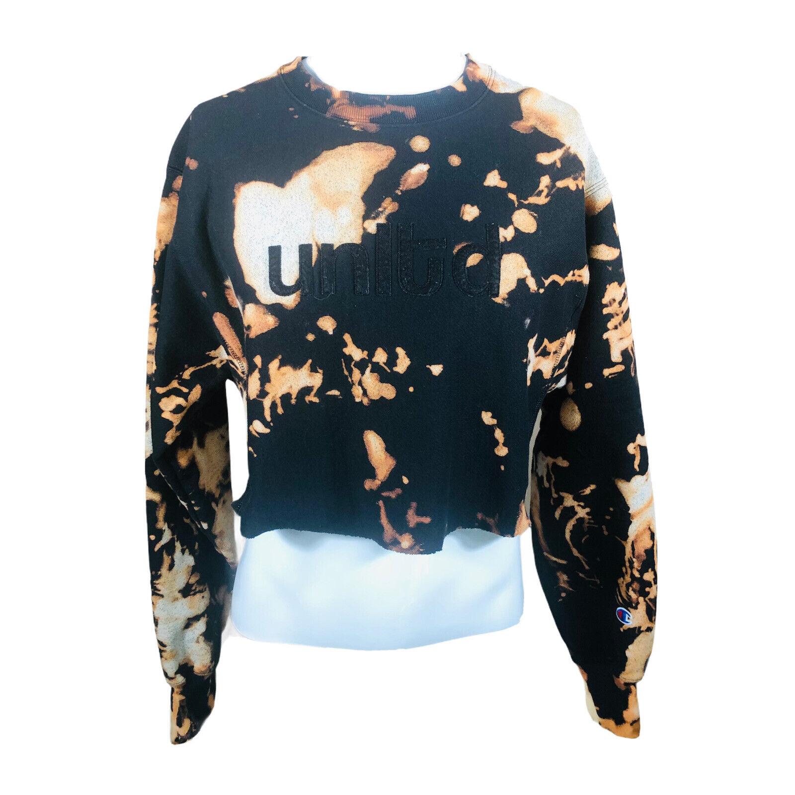 VTG Champion Reverse Weave Women's Medium DIY Cutoff Croptop Sweatshirt