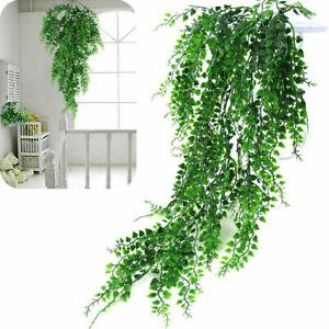 80cm-Haengepflanze-Kuenstliche-Efeuranken-Kunstpflanzen-Rattan-Blatt-Pflanzen-Deko