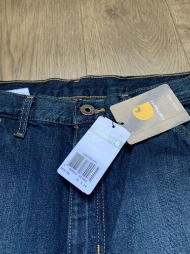 EB227 W:30 Leg 34 Brand New Mens CARHARTT DOUBLE FRONT LOGGER JEANS