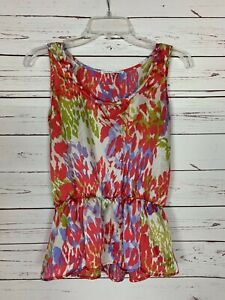 Collective-Concepts-Stitch-Fix-Women-039-s-XS-Extra-Small-Floral-Tank-Top-Blouse