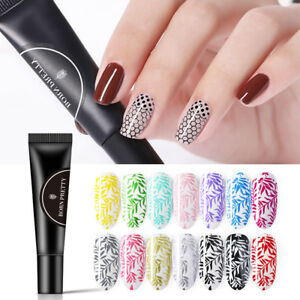 BORN-PRETTY-8ml-Stamping-Gel-Black-Soak-Off-UV-Gel-Polish-for-Nail-Stamp-Plate