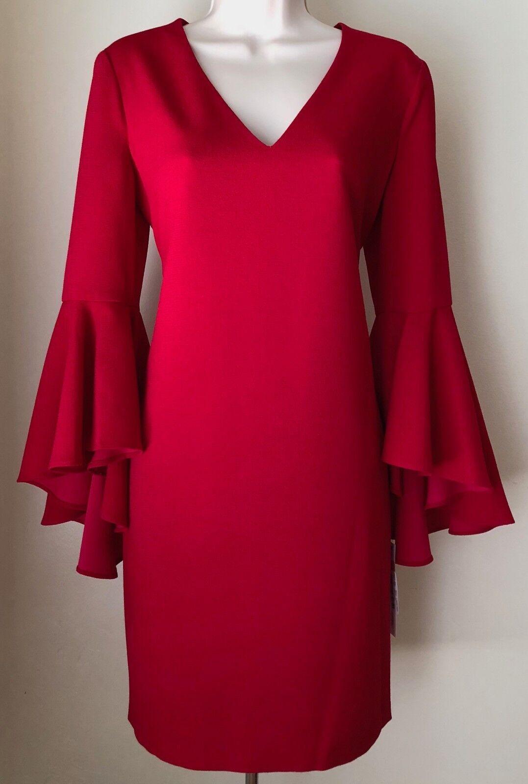 Maggy London Deidra Flutter Sleeve Shift Dress NWT Size 6