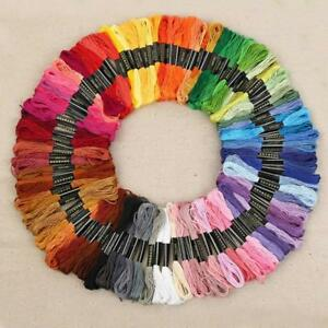 Cross-Stitch-Thread-Set-Embroidery-Sewing-Craft-Cotton-Floss-Skeins-Needlepoint