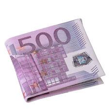 500 Euro Herren Leder Portemonnaie Geldbörse Geldbeutel Brieftasche Portmonee