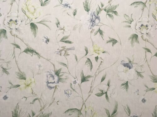 "ZOFFANY ""FLOWERING TREE"" CURTAIN FABRIC 2.2 METRES 100% LINEN CUSHION BLIND"