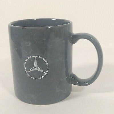 Mercedes Benz Luxury Cars Coffee Cup Mug Green Marble look with Benz Logo