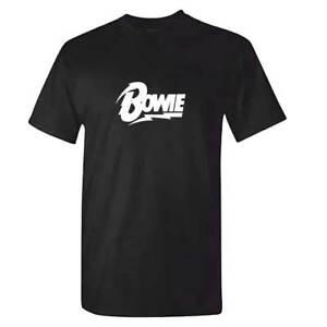 8ad4fb634 David Bowie TShirt - BOWIE Logo - Black Star Blackstar Retro Music T ...