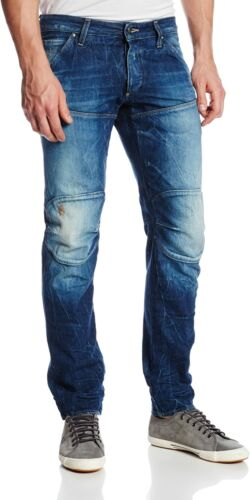 G-Star Raw Mens 3D Low Tapered Jeans Medium Aged Destroy