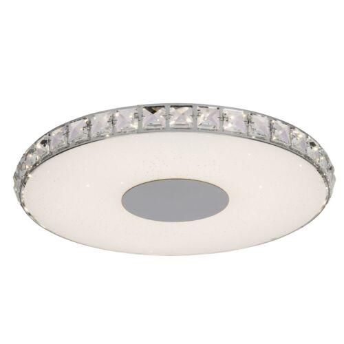 LED Decken Leuchte Kristalle Sternenhimmel Lampe SHANGRI chrom easydim 1920 lm