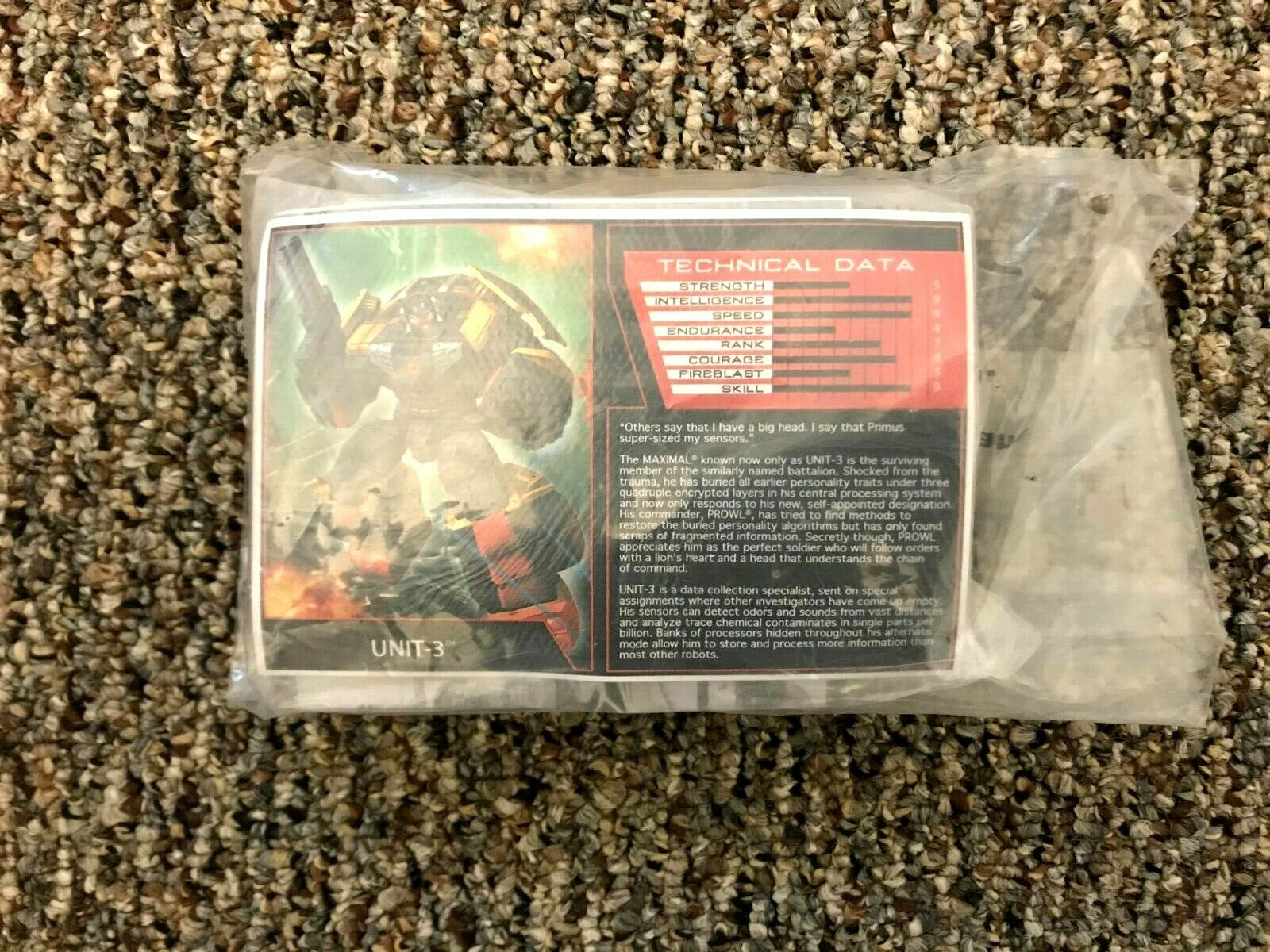 TRANSFORMERS Botcon 2016 Dawn of the Protacus Maximal Unit 3 Sealed Bag