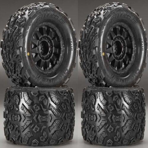 Pro-Line 1198-13 Big Joe II 3.8  Mounted Tires   Wheels (4) T-Maxx Summit E-Revo