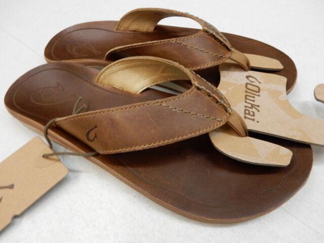 54cb4e066728 OluKai Mens Sandals Nohona  ili Tan Size 11 for sale online