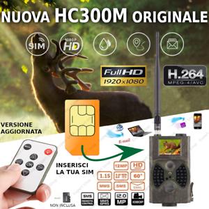 FOTOTRAPPOLA GSM VIDEOCAMERA HD MIMETICA SPIA MMS MAIL CACCIA LADRI INFRAROSSI