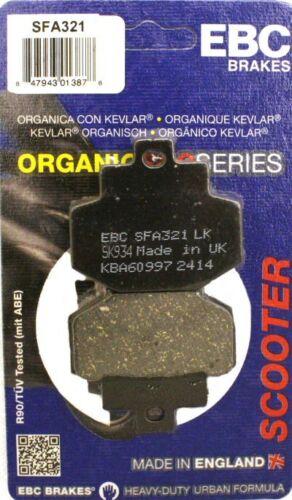 GILERA DNA 125 180 2001-2005 EBC ORGANIC REAR BRAKE DISC PAD SFA321
