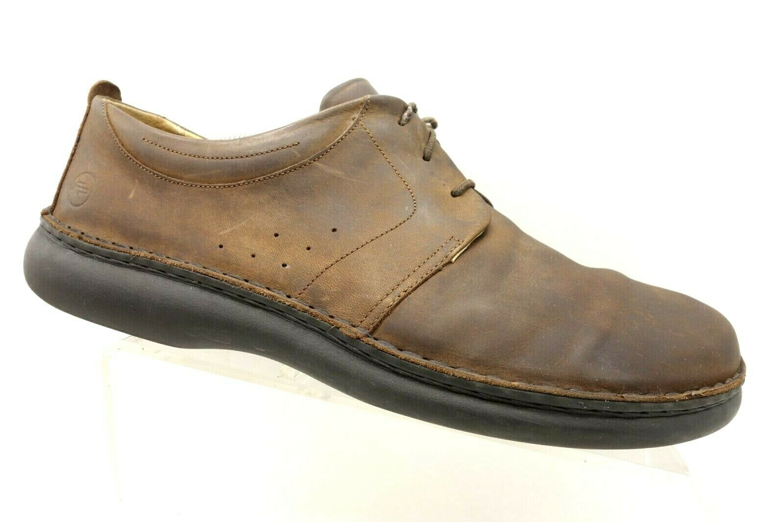 Footprints Germany Brown Leather Casual Lace Up shoes Men's 46   12.5