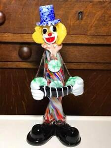 Murano-Art-Glass-Clown-Accordion-Player
