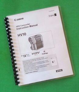 laser printed canon hv10 camcorder 94 page owners manual guide ebay rh ebay com Canon Cameras Digital Canon Cameras Digital