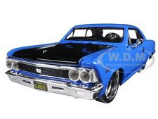 "1966 CHEVROLET CHEVELLE SS 396 BLUE ""CLASSIC MUSCLE"" 1/24 CAR BY MAISTO 31333"