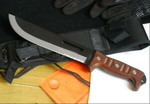 TOP QUALITY! POWERFUL SHARP 59HRC 8CR13MOV 5MM SURVIVAL HUNTING RESCUE KNIFE