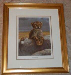 LARGE-Jeff-Gandert-2006-Framed-NEW-HORIZONS-Litho-Print-Signed-Numbered-CHEETAH