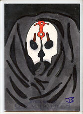 2012 TOPPS STAR WARS GALACTIC FILES  DARTH NIHILUS SKETCH CARD JAY SHIMKO 1/1