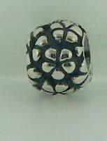 790292 Retired Pandora Sterling Silver Flower Power Bead In Box