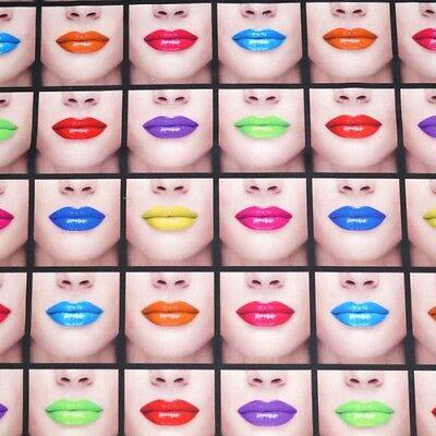Kiss Me Lipstick Lips Digital Print 100% Cotton Fabric Half Panama Fabric