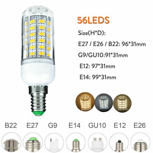 6W 12W 18W 25W LED Corn Light Bulbs E27 E26 E12 E14 G9 GU10 B22 5730 SMD Lamp RK