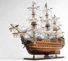 37 Inch Long Victory Horatio Nelson's Flagship Wooden Model Ship