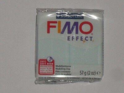 translucide//nacrée N°306 poids:57g Pain de pâte fimo effect bleu quartz