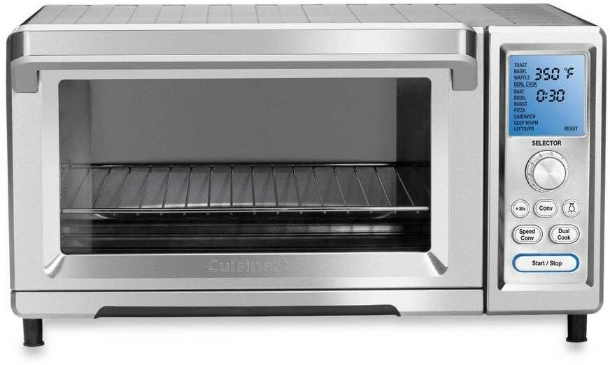 Cuisinart Toaster Oven Stainless Steel Digital Control Light Dual Sensor New