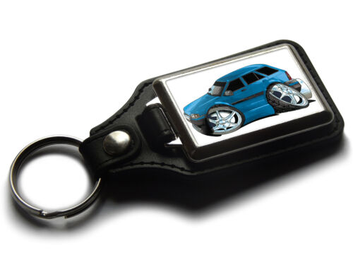 Koolart Cartoon Car Ford Escort Mark 4 Estate Leather and Chrome Keyring