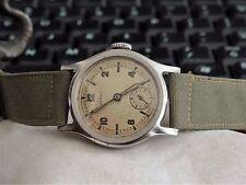 Vintage 1940s WWII Military Buren Rival Brit.Pat Brevet Stainless Steel Watch!