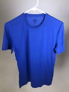 ICEBREAKER-Merino-Wool-Anatomica-Men-039-s-Crew-T-Shirt-BLUE-SMALL-NWOT